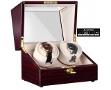 CHIYODA Dual Automatic LCD Watch Winder with Double Quiet Mabuchi Motors